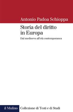 copertina Storia del diritto in Europa